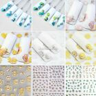24 Sheets 3D Flower Nail Art Stickers Manicure Decals Tips Stamping Silver/Gold