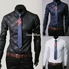 New Spring and Autumn Fashion Sleeve Long-sleeved Slim fit Men's T-shirt TOPS