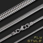 STAINLESS STEEL SNAKE NECKLACE for pendants jewelry gothic silver wgt chain rock