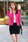 Unique Design  Women Basic Slim Foldable Suit Jacket Blazer CA HF