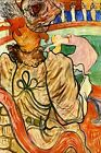 DANCER PINK DRESS DANCING SHOW ARENA AUDIENCE FRENCH PAINTING BY LAUTREC REPRO