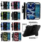 For Samsung Galaxy Phones Rugged Image Armored Hybrid Case Cover Clip Holster