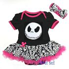 Halloween Baby Nightmare Before Xmas Jack Pink Hot Damask Bodysuit Party Dress