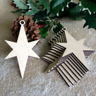 Wooden Christmas Star Hanging Tree Blank Decorations Gift Tag Shapes
