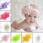 Lovely Ruffle Flower Lace Hairband Soft Elastic Headband Hair Band for baby girl