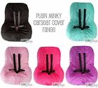 BRAND NEW Baby Toddler Kids Minky Car Seat Cover - PLAIN MINKY - VARIOUS COLOURS
