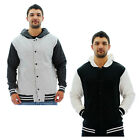 Burnside Men's Hooded Varsity Jacket Coat Relaxed Fit