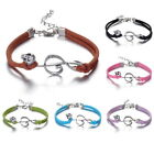 Fangled Jewelry Leather Bracelet Charms Lot Infinity Peace Cross Anchor Gift