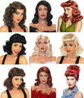 LADIES WOMENS 1940s WW2 HOLLYWOOD LANDGIRL PIN UP FANCY DRESS COSTUME WIG NEW