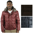 Andrew Marc Dodge Men's Down Coat Hooded Puffer Jacket Rabbit Fur