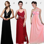 Womens Sexy Embellished Satin Sleeveless Evening Cocktail Party Long Maxi Dress
