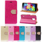 Unique Luxury Bling Crystals Glitter Wallet Flip Leather Case Cover For LG G3