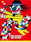 8310.Circo nacional de cuba.clown running.POSTER.movie decor graphic art