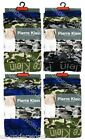6 Pairs Mens Pierre Klein Camouflage Camo Boxer Shorts Adults Trunks Briefs