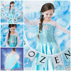 Princess Elsa Anna Costume Dress Girls Christmas Halloween Dresses AGE SIZE 3-8Y