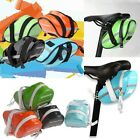 New Fashion Waterproof Quality PU Cycling Bike Bicycle Seat Saddle Rear Tail Bag
