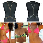Hot Womens Harness Crossover Body Chain Belly Waist Bikini Beach Slave Necklace