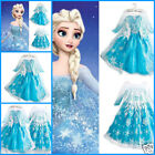 New Princess Queen ELSA ANNA Party Costume Girls Birthday School Dresses SZ 3-8Y