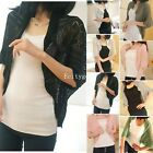 Womens Batwing Loose Knitted Knit Batwing Cardigan Coat Sweater Tops Outwear