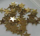 Jewellery Craft Design Gold Plated Flat Star Charm Pendant Bead 17mm Pk 20 50