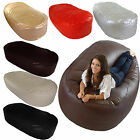 Faux Leather Large XL Jumbo Lounger Sofa Settee Couch Seat Bean Bag COVER ONLY