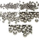20 Antiqued Silver Round Spacer Accent Beads Small -  Big Plated Steel Metal