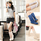 Summer Womens Chic Knitting Hollow Fashion High Boots Shoes