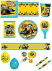 MY 1st JCB Construction DIGGER Birthday PARTY RANGE (Tableware & Balloons)