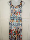 New Ladies Nouvelle Aztec Print Maxi Dress Plus Size Size 14 22-24 26-28 SALE