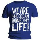 Official T Shirt WE ARE THE OCEAN Ruined Life BLUE L