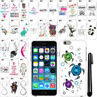 For Apple iPhone 6 4.7 inch Art Design PATTERN HARD Case Phone Cover + Pen