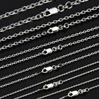 925 Sterling Silver Solid Cable Trace Necklace Chain 1mm 45/50/55/60/70cm NCA1