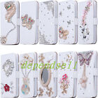 For iPhone 6 4.7'' 6+ Plus 5.5'' Bling Strass Cute Flip 3D Leather Case Cover