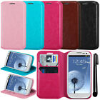 For Samsung Galaxy S3 i9300 T999 Wallet Tray Skin POUCH Case Cover Phone + Pen