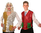 ADULT SEQUIN WAISTCOAT MENS LADIES ELF SANTAS HELPER FANCY DRESS COSTUME XL