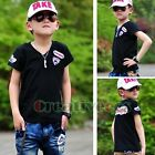 Fashion Child's Kids Toddlers Boys Logo Letters 100% Cotton Tops T-Shirt Hot New