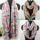 Newspaper UK Union Jack Print Long Scarf / Infinity 2-Loop Cowl Scarf