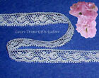 """10/20 Yards White Lace Trim Vintage 1/2"""" Floral N57AV Buy More-Ship No Charge"""