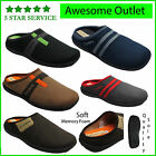 NEW Mens Coolers Mule Clog Slippers Comfort Soft Memory Foam Insoles Sizes 7-12