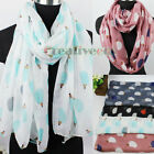Simple Animals Hedgehog Print Long Scarf/Infinity 2-Loop Casual Soft Voile Scarf