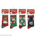 4x CHILDRENS BOYS GIRLS NOVELTY CARTOON CHRISTMAS FESTIVE DESIGN SANTA SOCKS