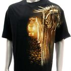 wm14 Rock Chang T-shirt Tattoo Glow in Dark STUD Skull Grim Demon Cotton Casual