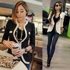 Fashion Women Lady Coat Slim Blazer One Button Jacket Suit Outerwear White Black