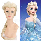 Harajuku Movies Frozen Snow Queen Elsa Blonde Weaving Braid Cosplay Wigs+gift