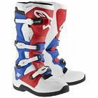 Alpinestars Tech 5 Motocross Boot White / Red / Blue All SIzes Boots