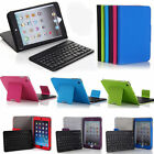 Smart Leather Case Removable Bluetooth Keyboard For The Newest iPad Mini 3 2 1