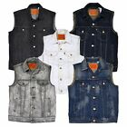 Levis Denim Trucker Vests Mens Sleeveless Button Down Pockets Jean New W008+