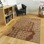 New Pink Beige Flat Weave Modern Rugs Thin Easy Clean Patchwork Living Room Mat