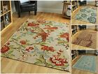 Modern Shabby Chic Multi Thin Floral Rugs Fine Easy Clean Small Large Area Mats