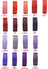 "10y 25y 22mm 7/8"" Red Coral Burgundy Purple Lilac Grosgrain Ribbon Eco CLEARANCE"